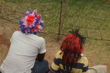 Funky hairdo's are a part of the short version of the game