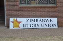 Zimbabwe Rugby Union sign looking out of place