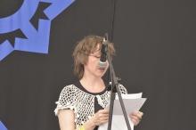 Sylvia Geist from Germany at HIFA, Zimbabwe