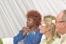 Prudence Katomeni Mbofana in the audience