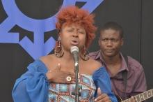 Prudence Katomeni Mbofana sings here heart out