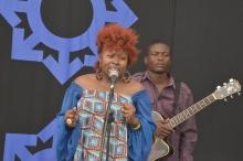 Prudence Katomeni Mbofana on stage