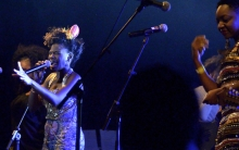 Shingai Shoniwa belts out with Tariro Ne Gitare backing her up