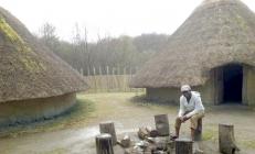 Craggaunowen houses, Ireland